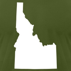 Olive State of Idaho solid Men
