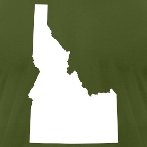 Olive State of Idaho solid Men - Men's T-Shirt by American Apparel