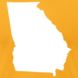 Gold State of Georgia solid Men - Men's T-Shirt by American Apparel