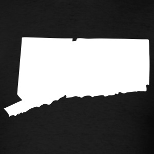 Black State of Connecticut solid Men - Men's T-Shirt