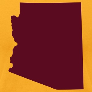 Gold State of Arizona solid Men - Men's T-Shirt by American Apparel