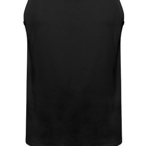 Black love_heart T-Shirts (Short sleeve) - Men's Premium Tank