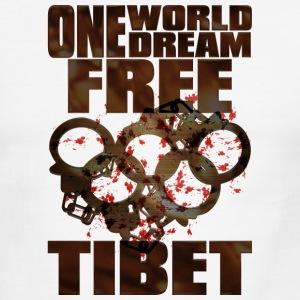 ONE WORLD ONE DREAM FREE TIBET - Men's Ringer T-Shirt
