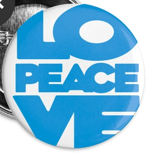 Love Peace Love Badge - Small Buttons