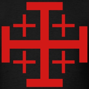 Black Jerusalem Cross Men - Men's T-Shirt