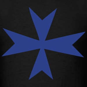 Black Knights Hospitallers - Hospitaler - Maltese Cross Men - Men's T-Shirt