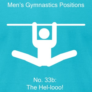 Men's Gymnastic Positions #33b - Men's T-Shirt by American Apparel