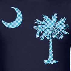 SC Palmetto State Flag - Blue Plaid