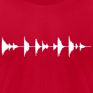 Drumloop Men Red - Men's T-Shirt by American Apparel