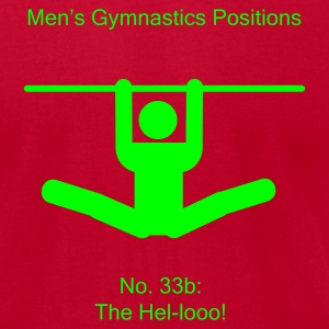 Men's Gymnastic Positions #72a - Men's T-Shirt by American Apparel