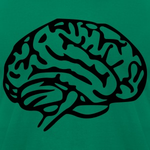 Kelly green Brain Men - Men's T-Shirt by American Apparel