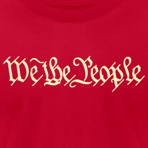 Brown We the People US Constitution Men - Men's T-Shirt by American Apparel