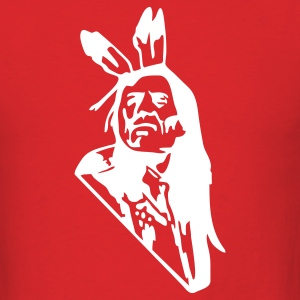 Red Native American Indian Men - Men's T-Shirt