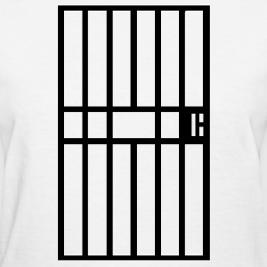 White Jail cell prison bars Women - Women's T-Shirt