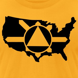 Gold Illuminati Pyramid USA Control Men - Men's T-Shirt by American Apparel
