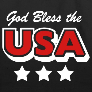 Black God Bless the USA Stars Accessories - Eco-Friendly Cotton Tote