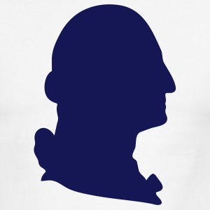 Sky/navy George Washington silhouette Men - Men's Ringer T-Shirt