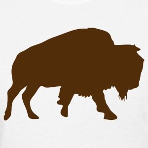 White American Buffalo Bison Women - Women's T-Shirt