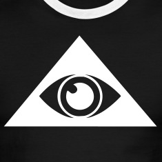 Black/white All seeing eye pyramid Men