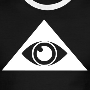Black/white All seeing eye pyramid Men - Men's Ringer T-Shirt
