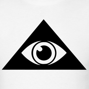 White All seeing eye pyramid Men - Men's T-Shirt