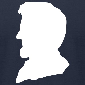 Navy President Abe Lincoln Silhouette Men - Men's T-Shirt by American Apparel