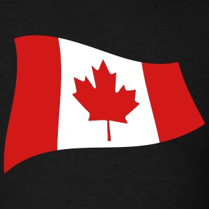 Black Canadian Flag Men - Men's T-Shirt