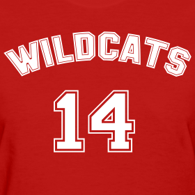 Design ~ WILDCATS SCHOOL MUSICAL COSTUMES Ladies T-Shirt