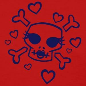 Red She Hearts Skulls Women - Women's T-Shirt
