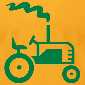 Gold Tractor Men - Men's T-Shirt by American Apparel