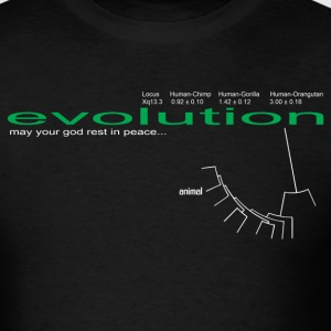Evolution God RIP 2 - Men's T-Shirt