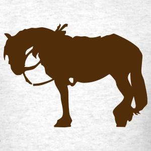 Ash  Horse Saddled Up Silhouette Men - Men's T-Shirt