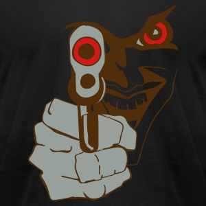 THE BADASS GUN by THEBADASSTEE - Men's T-Shirt by American Apparel