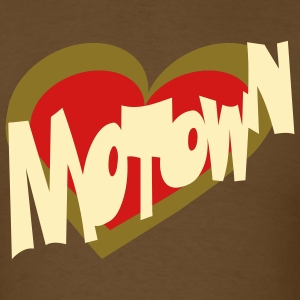 Brown Motown Heart Men - Men's T-Shirt