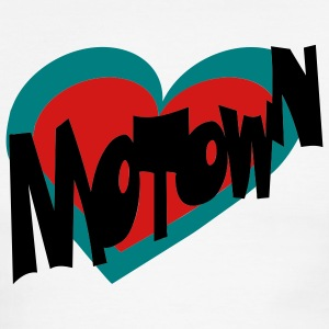 White/red Motown Heart Men - Men's Ringer T-Shirt