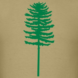 Khaki tall skinny green tree Men - Men's T-Shirt