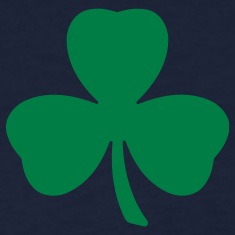 Navy Three Leaf Clover Shamrock Women