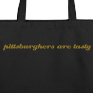 Design ~ Large Tote - pittsburghers are tasty