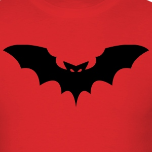 Red Scary Black Bat T-Shirts (Short sleeve) - Men's T-Shirt