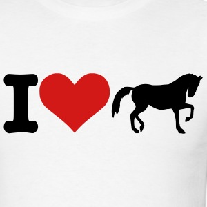 White I love horses T-Shirts (Short sleeve) - Men's T-Shirt