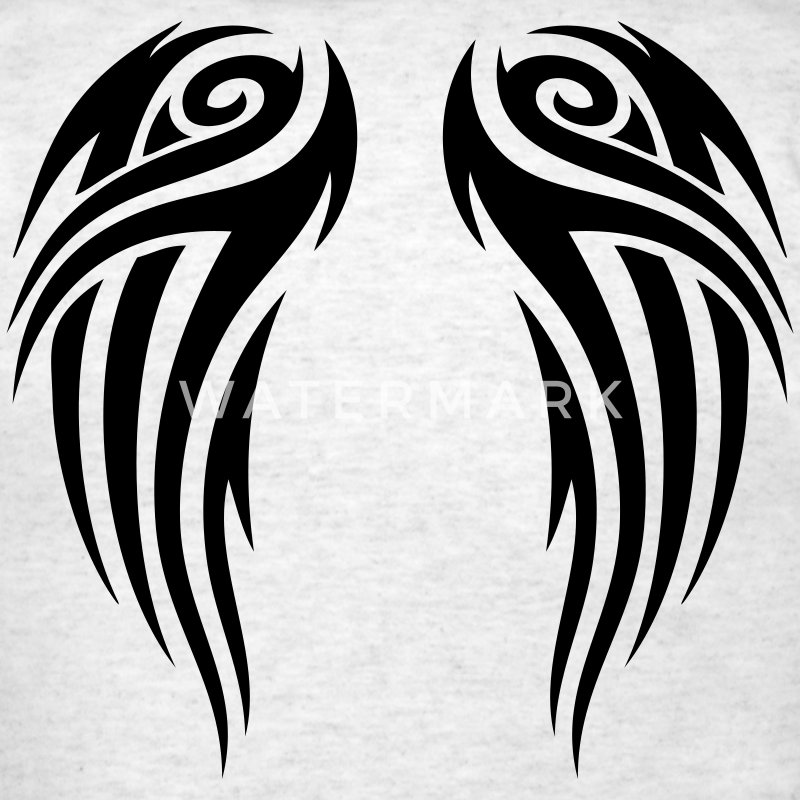 Ash  tribal wings T-Shirts - Men's T-Shirt