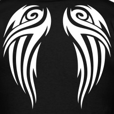 Black tribal wings T-Shirts
