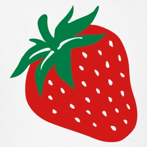 White Strawberry T-Shirts (Short sleeve) - Men's T-Shirt