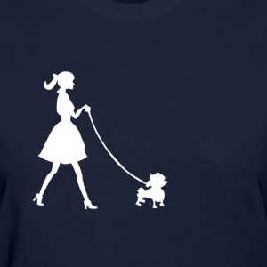 lady with dog - Women's T-Shirt