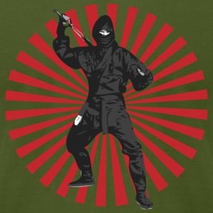 Olive Bad Ass ninja T-Shirts (Short sleeve) - Men's T-Shirt by American Apparel