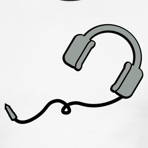 White/black headphones T-Shirts (Short sleeve) - Men's Ringer T-Shirt
