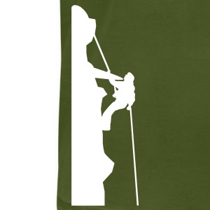 Olive Mountain Rock Climber T-Shirts (Short sleeve) - Men's T-Shirt by American Apparel