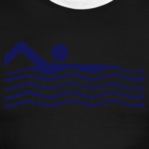 Sky/navy swimming T-Shirts (Short sleeve) - Men's Ringer T-Shirt