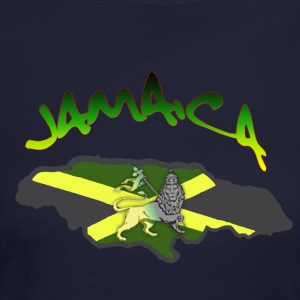 Jamaican Map - Women's Long Sleeve Jersey T-Shirt