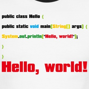 Hello, World! - Men's Ringer T-Shirt